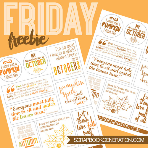 SG Friday Freebies: 2016 October - Quotes
