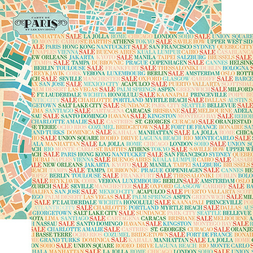 CLEARANCE | Carta Bella Metropolitan Girl 12x12 Paper: Shopping Cities