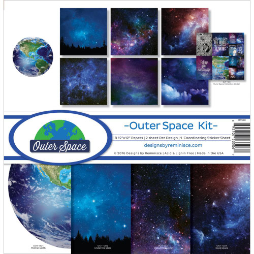 Reminisce Outer Space 12x12 Collection Pack