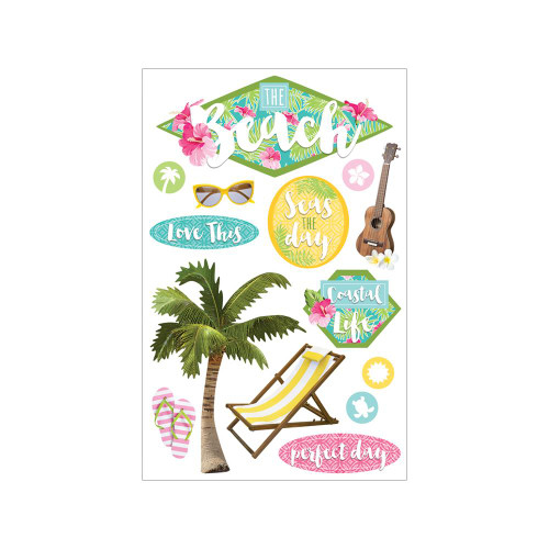 Paper House Productions 3D Stickers: The Beach