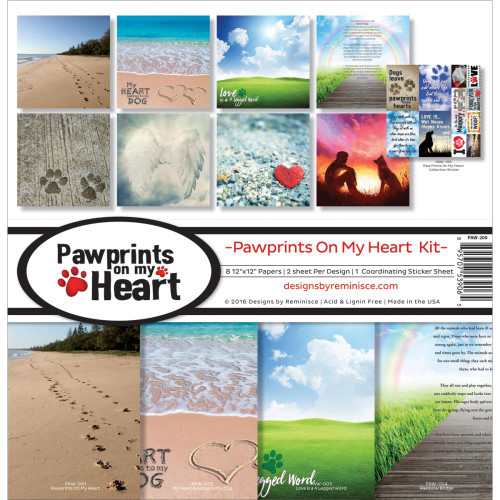 Reminisce Pawprints On My Heart 12x12 Collection Pack