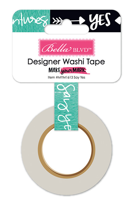 CLEARANCE | Bella Blvd Make Your Mark Washi Tape: Say Yes .625""