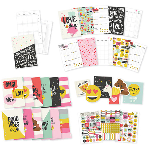 CLEARANCE | Simple Stories Carpe Diem | Emoji Love A5 12 Month Planner Insert Set