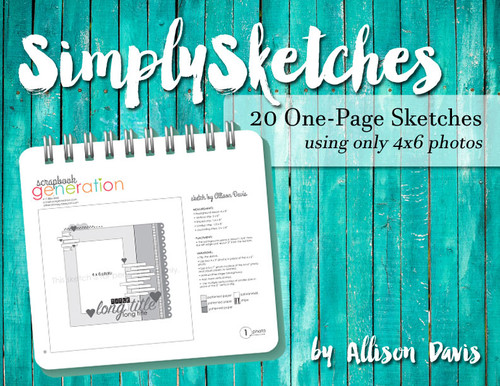 Simply Sketches Ebook: 4x6 Only (One-Page Layouts)