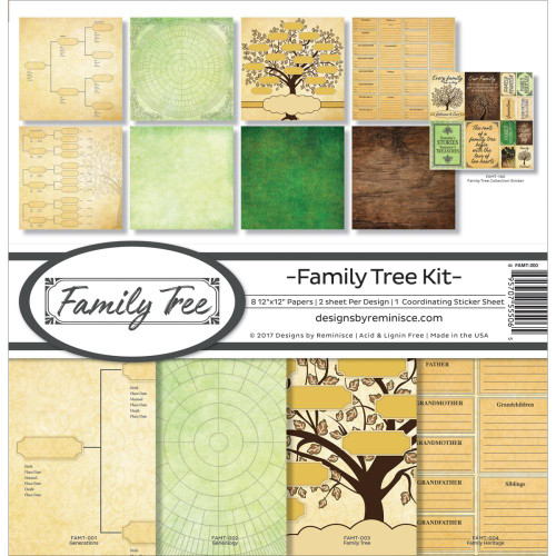 Reminisce 12x12 Collection Pack: Family Tree