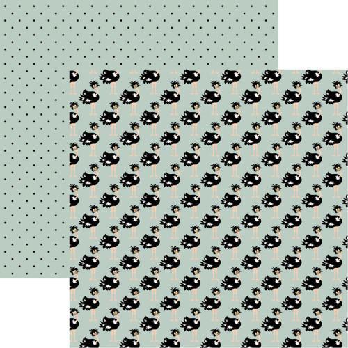 Reminisce The Menagerie 12x12 Paper: Wild & Crazy Ostriches