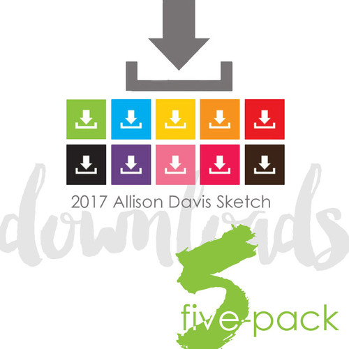 * DIGITAL DOWNLOAD * FIVE SKETCHES - All About Boys | One Page Layouts