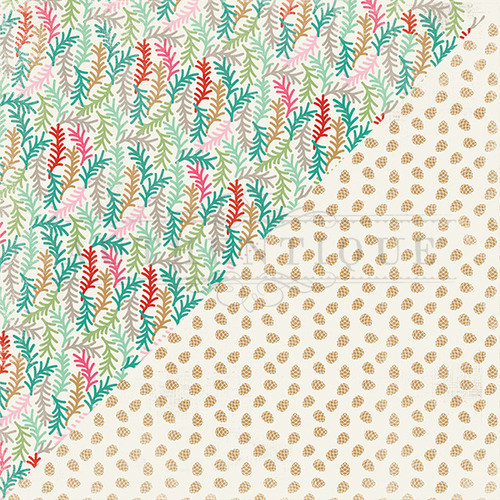 CLEARANCE | Authentique Colorful Christmas 12x12 Paper: Five