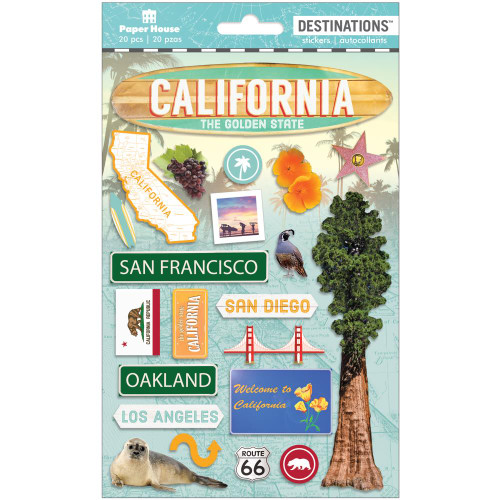 Paper House Productions Destinations Stickers: Travel California