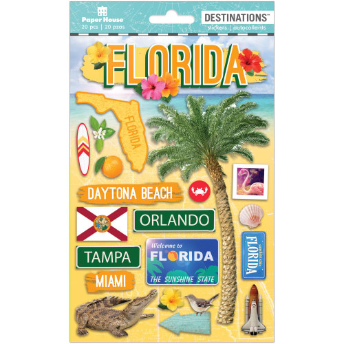 Paper House Productions Destinations Stickers: Travel Florida