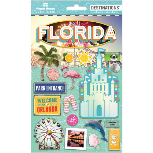 Paper House Productions Destinations Stickers: Travel Florida Magic