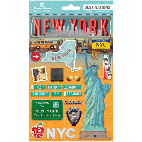 Paper House Productions Destinations Stickers: New York City