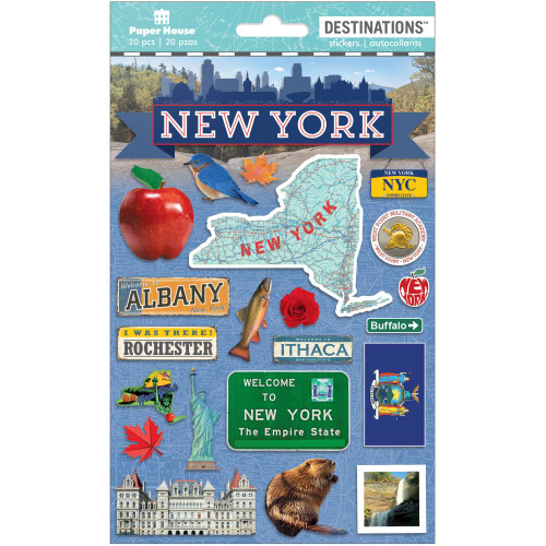 Paper House Productions Destinations Stickers: New York State