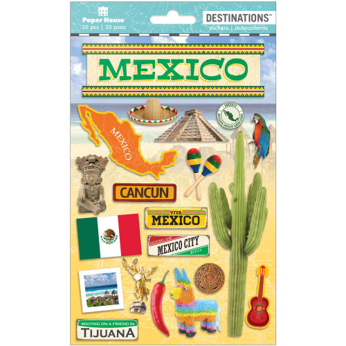 Paper House Productions Destinations Stickers: Mexico
