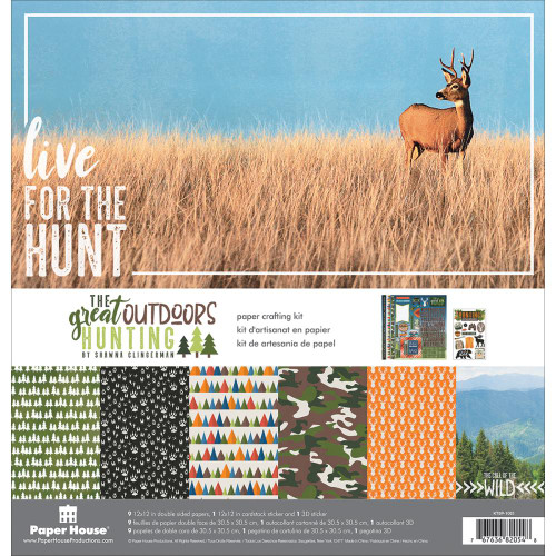Paper House Productions 12x12 The Great Outdoor Collection Kit: Hunting