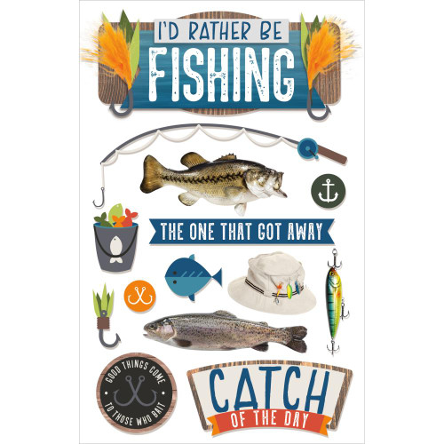 Paper House Productions 3D Stickers: Fishing