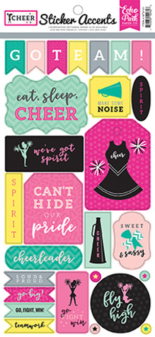 Echo Park Cheer 6X13 Sticker