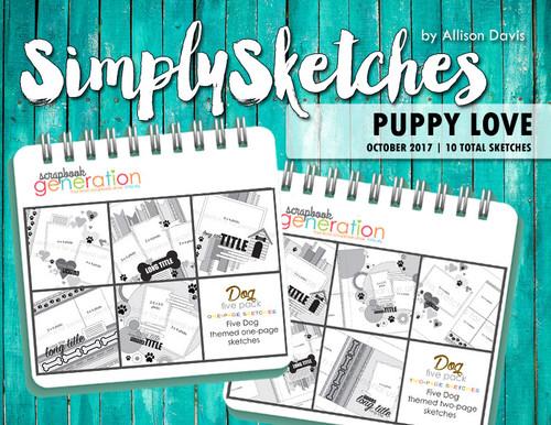 Simply Sketches Ebook: October 2017 | Puppy Love