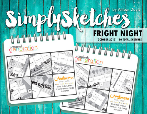 Simply Sketches Ebook: October 2017 | Fright Night