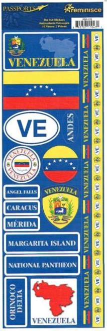 Reminisce Passports Series Stickers: Venezuela