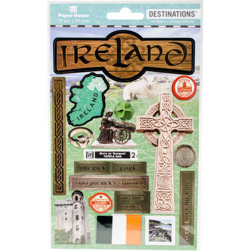 Paper House Productions Destinations Stickers: Ireland