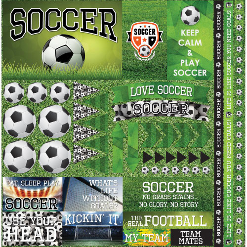 "Reminisce The Soccer Collection ""2"" 12x12 Poster Sticker"