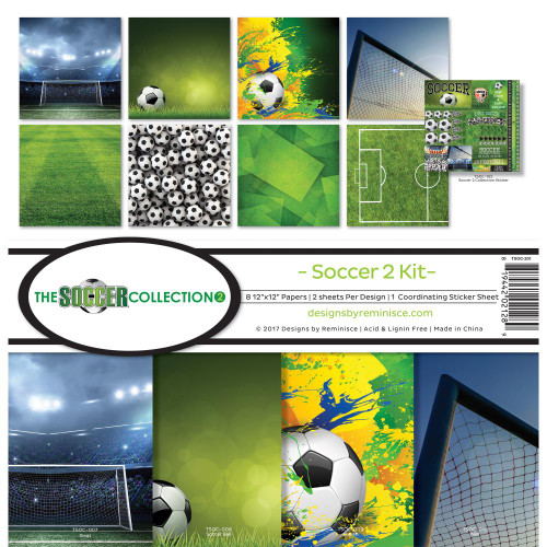 "Reminisce 12x12 Collection Pack: The Soccer Collection ""2"""