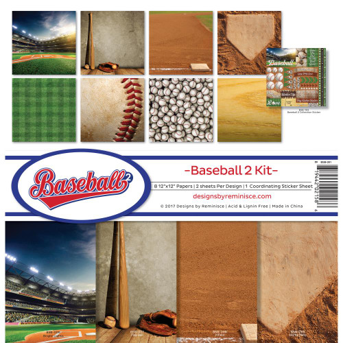 "Reminisce 12x12 Collection Pack: Baseball ""2"""