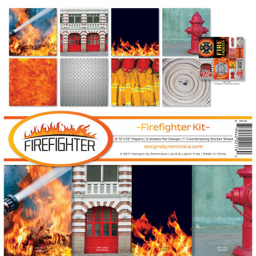 Reminisce 12x12 Collection Pack: Firefighter