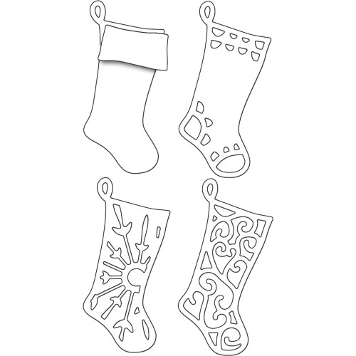 Penny Black Creative Dies: Layered Stockings
