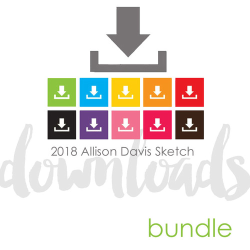* DIGITAL DOWNLOAD * SKETCH BUNDLE: January 2018 | Calendar (Two Page Layouts)