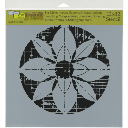 Crafter's Workshop 12x12 Template: Flower Grid