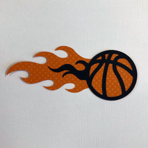 Scrapbooks From The Heart Diecut Title: Basketball with Flame