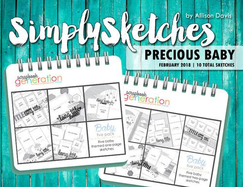Simply Sketches Ebook: February 2018 | Precious Baby