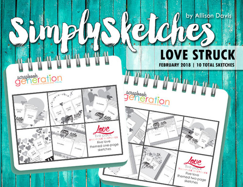 Simply Sketches Ebook: February 2018 | Love Struck