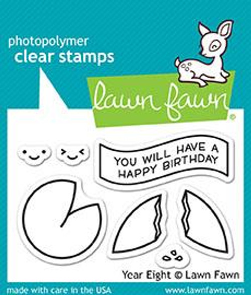Lawn Fawn Clear Stamp: Year Eight