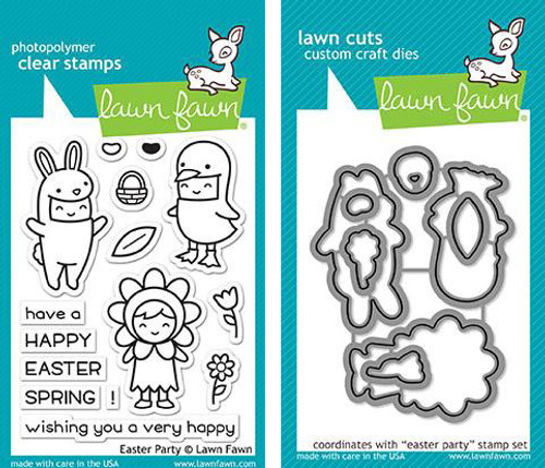 Lawn Fawn Die & Clear Stamp Combo: Easter Party