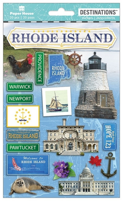 Paper House Productions Destinations Stickers: Rhode Island