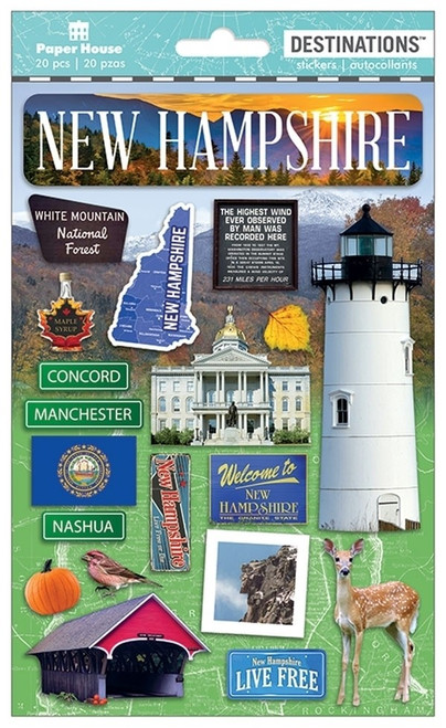 Paper House Productions Destinations Stickers: New Hampshire