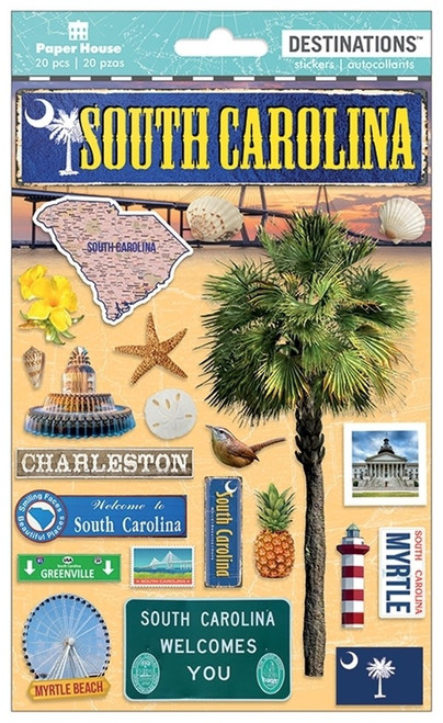 Paper House Productions Destinations Stickers: South Carolina