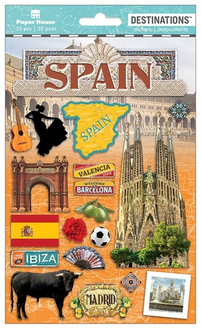 Paper House Productions Destinations Stickers: Spain