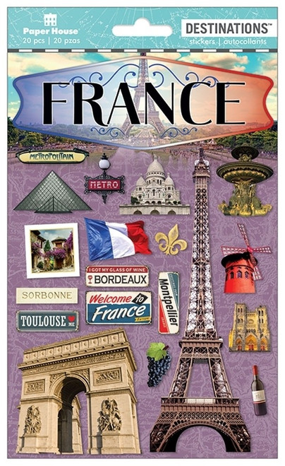 Paper House Productions Destinations Stickers: France