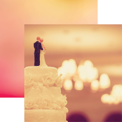 Reminisce Modern Wedding 12x12 Paper: Takes The Cake