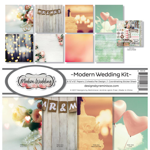Reminisce 12x12 Collection Pack: Modern Wedding