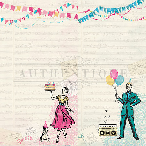 Authentique Party 12x12 Paper: One