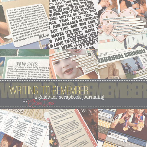 * DIGITAL DOWNLOAD * EBOOK: Writing to Remember, A Guide to Scrapbook Journaling