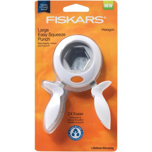 "Fiskars Squeeze Punch: Hexagon - Large (1.5"")"