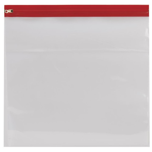 "Zipafile Vinyl Bags: 14""x13"" (Red)"