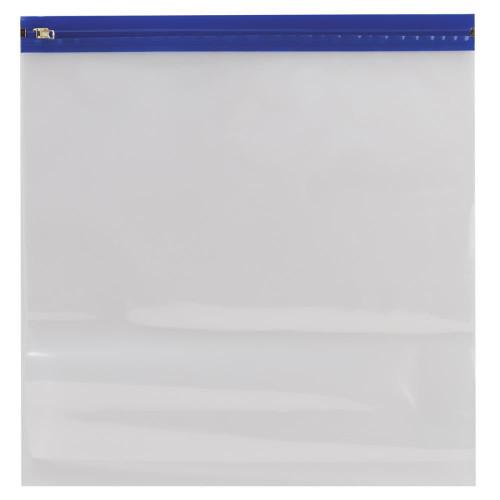 "Zipafile Vinyl Bags: 14""x13"" (Blue)"