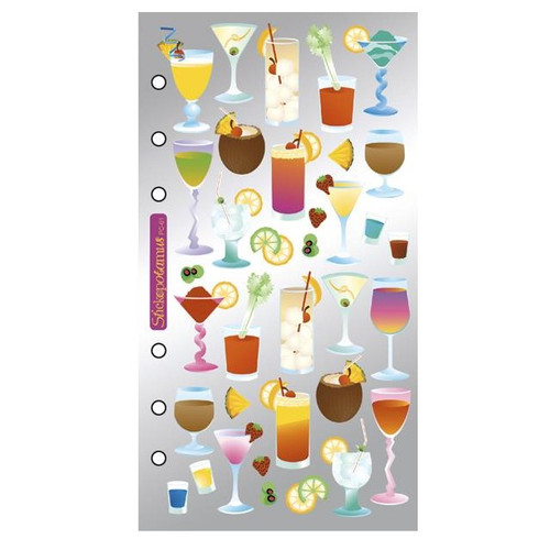 EK Success Sticko Flat Stickers: Cocktails